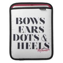 Minnie Mouse   Bows Ears Dots & Heels iPad Sleeve