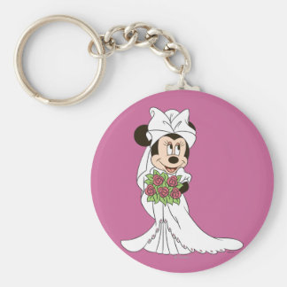 Minnie Mouse   Bride at Wedding Keychain