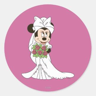 Minnie Mouse Bride Classic Round Sticker