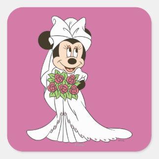 Minnie Mouse Bride Square Sticker