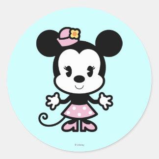 Minnie Mouse Cartoon Classic Round Sticker