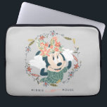 "Minnie Mouse | Chase Adventure Computer Sleeve<br><div class=""desc"">Disney Fast Fashion - Minnie Mouse with a bow made of flowers,  frames with feathers leaves and flowers.</div>"