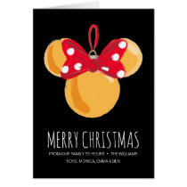 Minnie Mouse Christmas Ornament Card
