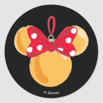Minnie Mouse Christmas Ornament Classic Round Sticker