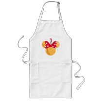 Minnie Mouse Christmas Ornament Long Apron