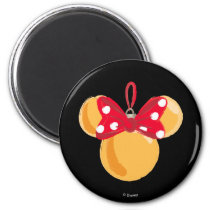 Minnie Mouse Christmas Ornament Magnet