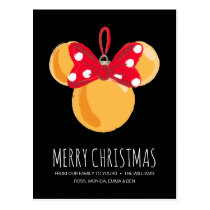 Minnie Mouse Christmas Ornament Postcard