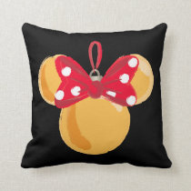 Minnie Mouse Christmas Ornament Throw Pillow
