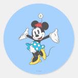 Minnie Mouse clásica 2 Etiqueta Redonda