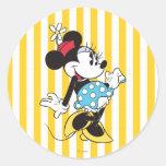 Minnie Mouse clásica 3 Etiqueta Redonda