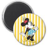 Minnie Mouse clásica 3 Imán Redondo 5 Cm