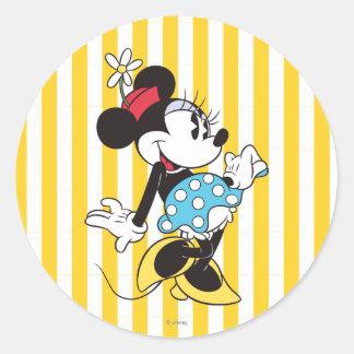 Minnie Mouse clásica 3 Pegatina Redonda