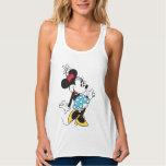 Minnie Mouse clásica 3 Playera De Tirantes Cruzados Holgada