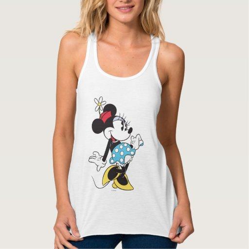 Minnie Mouse clásica 3 Playera Con Tirantes