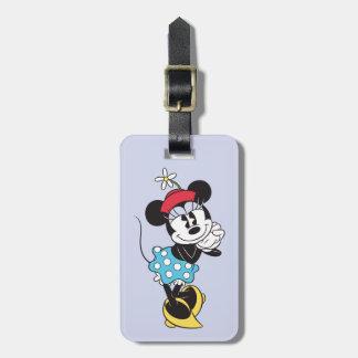 Minnie Mouse clásica 4 Etiquetas Para Maletas