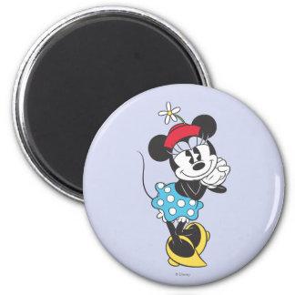 Minnie Mouse clásica 4 Imán Redondo 5 Cm