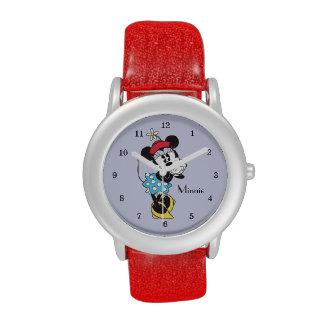 Minnie Mouse clásica 4 Relojes De Pulsera