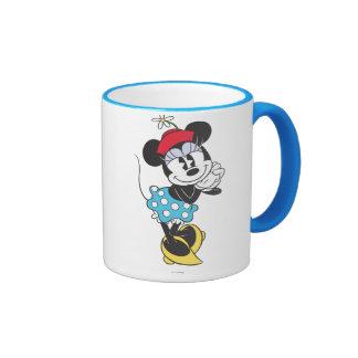 Minnie Mouse clásica 4 Taza De Dos Colores