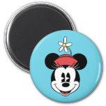 Minnie Mouse clásica 5 Imán Redondo 5 Cm