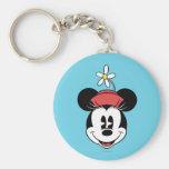 Minnie Mouse clásica 5 Llavero Redondo Tipo Pin