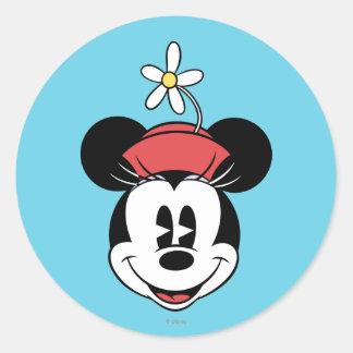 Minnie Mouse clásica 5 Etiquetas Redondas