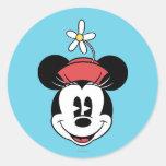 Minnie Mouse clásica 5 Pegatina Redonda