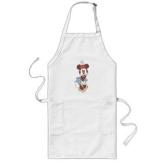 Minnie Mouse clásica 7 Delantal Largo