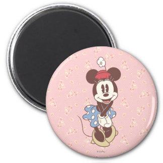 Minnie Mouse clásica 7 Imán Redondo 5 Cm