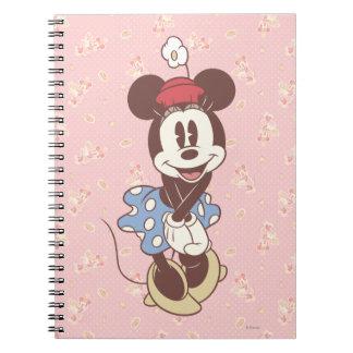 Minnie Mouse clásica 7 Libro De Apuntes Con Espiral