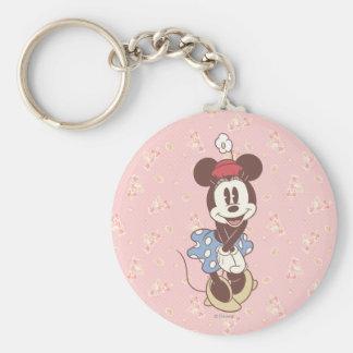 Minnie Mouse clásica 7 Llavero Redondo Tipo Pin