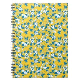Minnie Mouse clásica Blue1 Libro De Apuntes Con Espiral