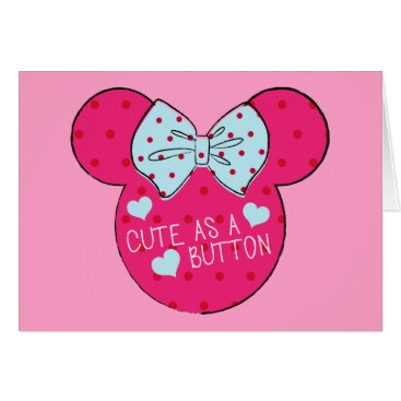 Disney Themed Minnie Mouse | Cute as a Button Card