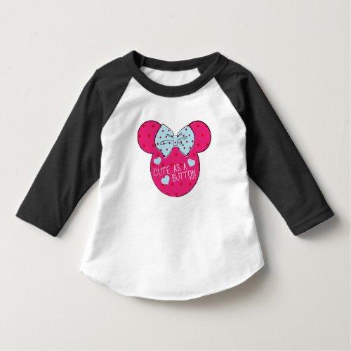 Minnie Mouse  Cute as a Button T_Shirt