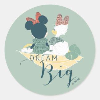 Minnie Mouse & Daisy Duck | Dream Big Classic Round Sticker