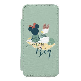 Minnie Mouse & Daisy Duck | Dream Big Wallet Case For iPhone SE/5/5s