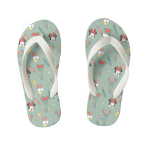 Minnie Mouse & Daisy Duck | Dream Catcher Pattern Kid's Flip Flops