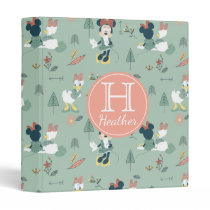 Minnie Mouse & Daisy Duck   Let's Get Away Pattern 3 Ring Binder