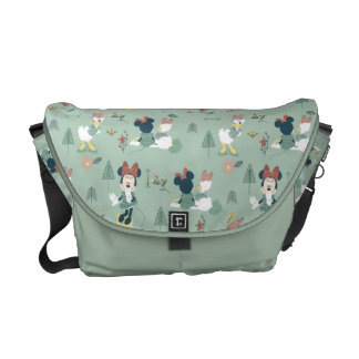 Minnie Mouse & Daisy Duck | Let's Get Away Pattern Courier Bag