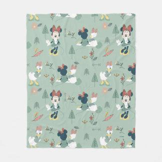 Minnie Mouse & Daisy Duck | Let's Get Away Pattern Fleece Blanket