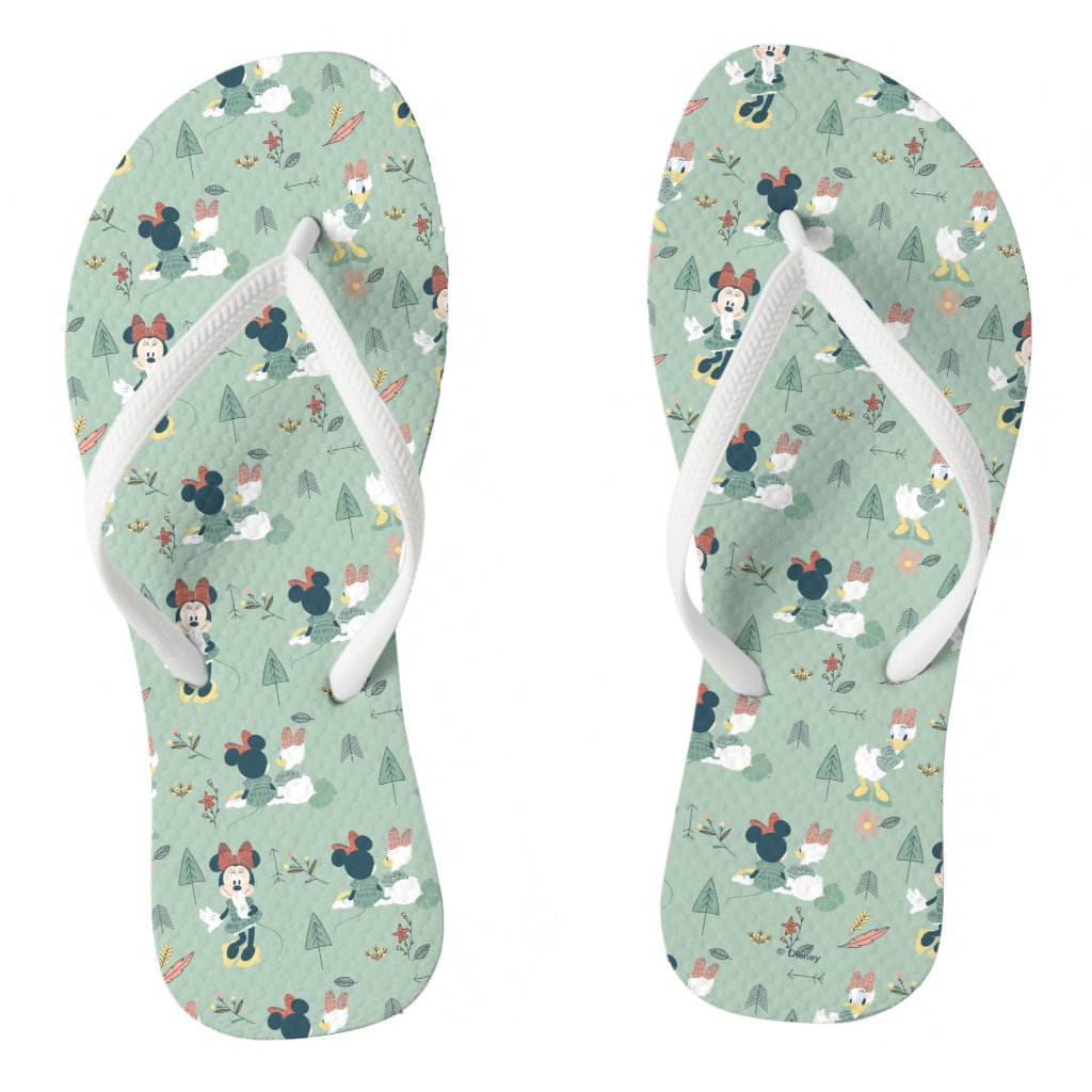 Minnie Mouse & Daisy Duck | Let's Get Away Pattern Flip Flops