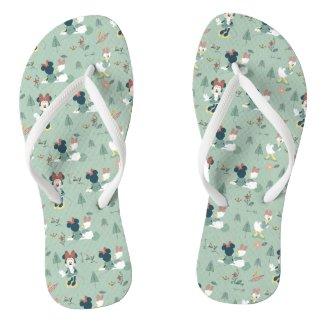Minnie Mouse & Daisy Duck   Let's Get Away Pattern Flip Flops