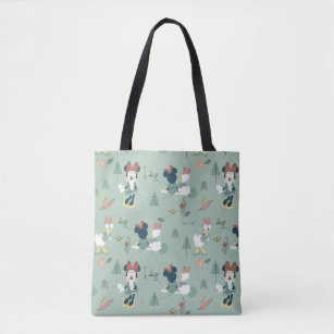 Minnie Mouse Daisy Duck Let S Get Away Pattern Tote Bag
