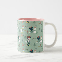 Minnie Mouse & Daisy Duck | Let's Get Away Pattern Two-Tone Coffee Mug