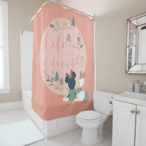 Minnie Mouse & Daisy Duck | Life is an Adventure Shower Curtain