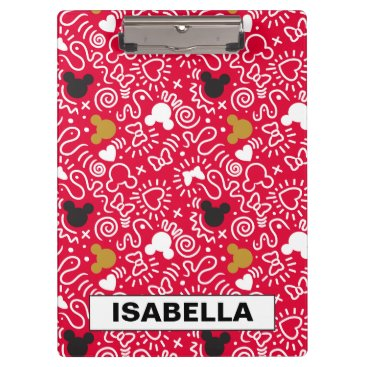 Disney Themed Minnie Mouse | Doodle Pattern Clipboard