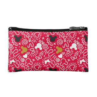 Minnie Mouse | Doodle Pattern Cosmetic Bag