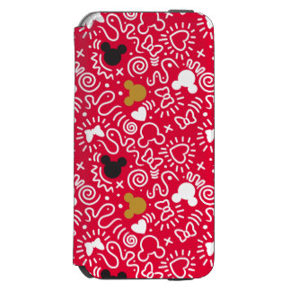 Minnie Mouse | Doodle Pattern iPhone 6/6s Wallet Case
