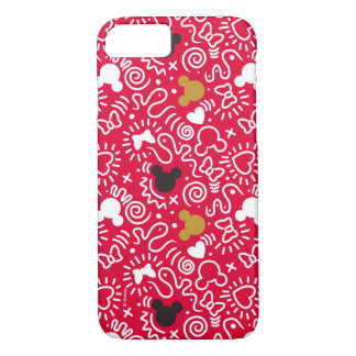 Minnie Mouse   Doodle Pattern iPhone 8/7 Case