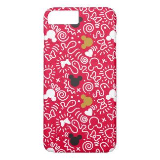 Minnie Mouse   Doodle Pattern iPhone 8 Plus/7 Plus Case