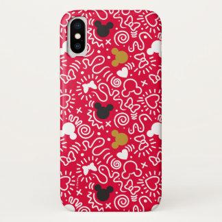 Minnie Mouse   Doodle Pattern iPhone X Case